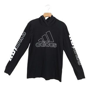Adidas Youth Hoodie Size Large Black White